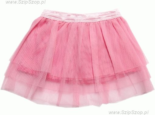 Spódniczka dziewczęca tiulowa Kornelka różowa