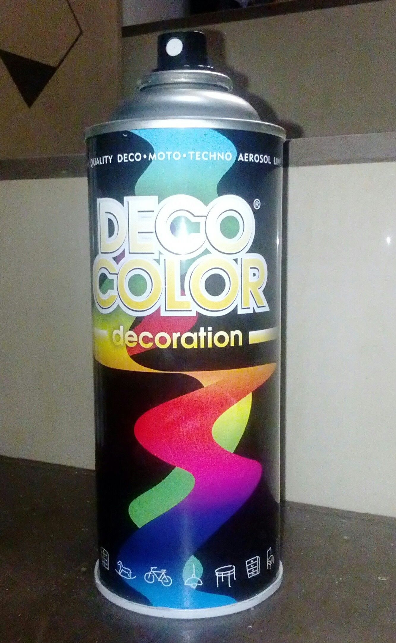 DECO Lakier Spray Czarny Połysk 400ml