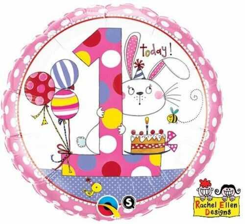 """Balon foliowy QL: 1 dla dziewczynki, 18"""""""
