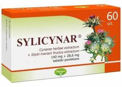 Sylicynar 140 mg + 28,6 mg 60 tabletek