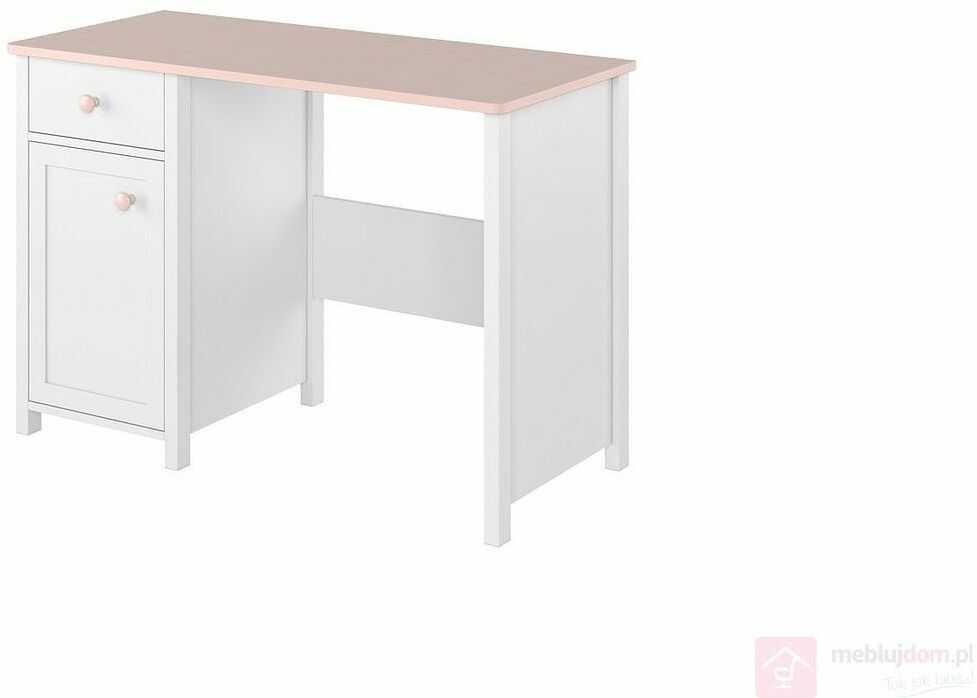 KUPON 10% NA STRONIE  Biurko LUNA LN-03 Biały + Różowy