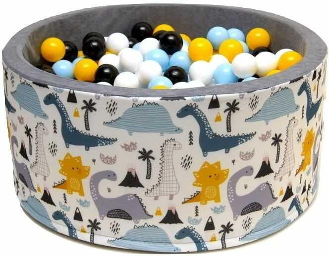 Suchy basen dla dzieci 90x40 z kulkami piłeczkami 7cm - Dino