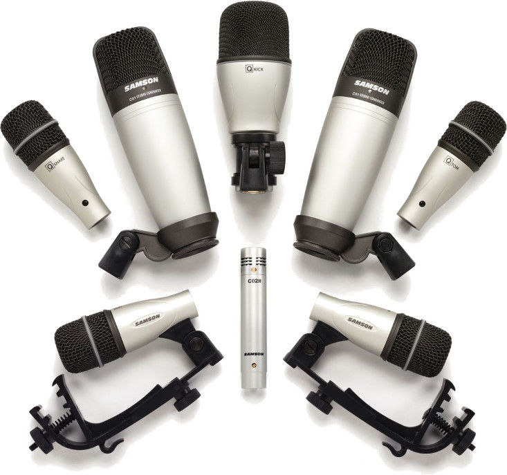Samson 8kit - Zestaw mikrofonów do perkusji 3xQ Tom, 1x Q Snare, 1x Q Kick, 1x CO2H, 2x CO2