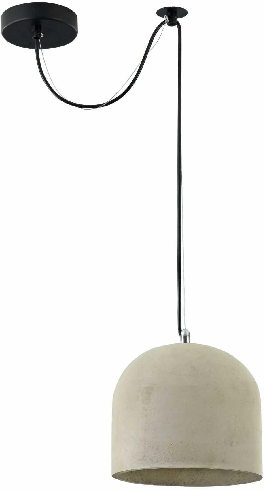 Maytoni Broni T451-PL-01-GR lampa wisząca metalowa osłona sufitowa czarna klosz betonowy szary 1 X E27 60W 20 cm