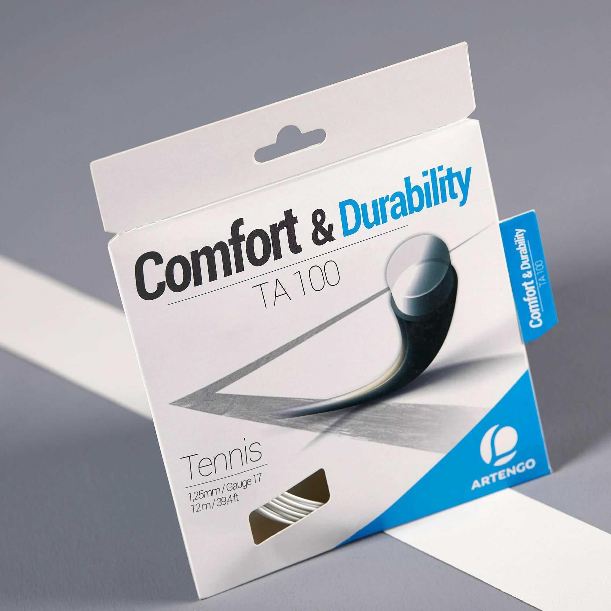 Naciąg tenisowy JEDNOWŁÓKNISTY TA100 1,25 mm szpula 12m