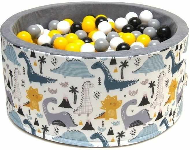 Suchy basen dla dzieci 90x40 z kulkami piłeczkami 7cm - Dinos