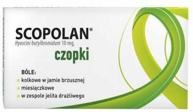 Scopolan 10 mg czopki doodbytnicze 6 sztuk