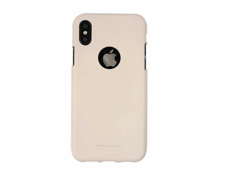 Apple iPhone XS - Mercury Goospery Soft Feeling - piaskowy róż