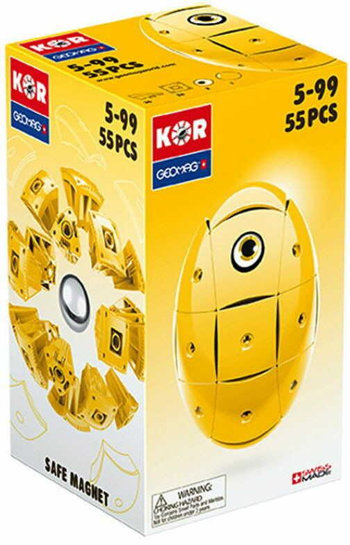 GeoMag KOR Klocki magnetyczne - Żółte jajko 55 el. 675