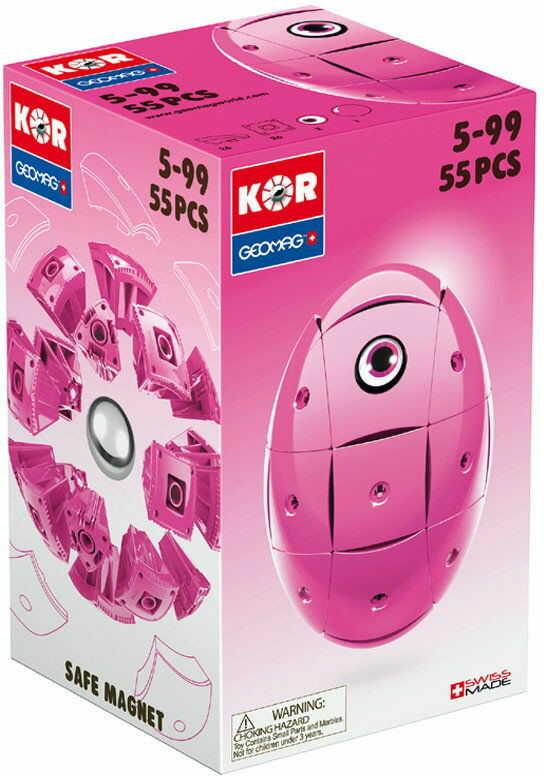 Geomag KOR Klocki magnetyczne - Różowe jajko 55 el. 674