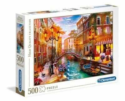 Puzzle Clementoni 500 - Zachód nad Wenecją, Sunset over Venice