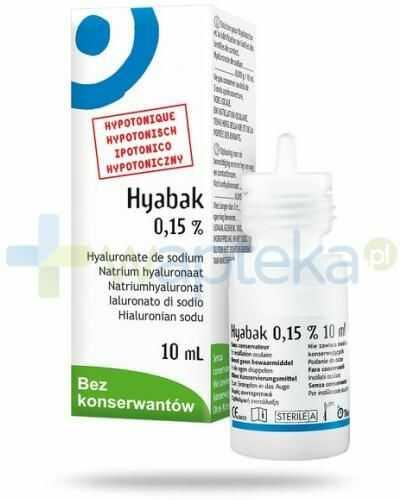 Hyabak 0,15% nawilżające krople do oczu bez konserwantów 10 ml