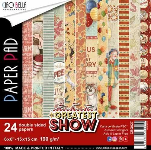 The Greatest Show Collection - papier zestaw 24 arkusze 15x15