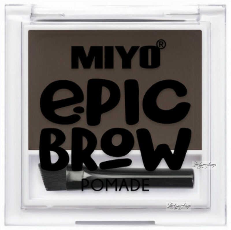 MIYO - EPIC BROW POMADE - Pomada do stylizacji brwi - BROWNIE
