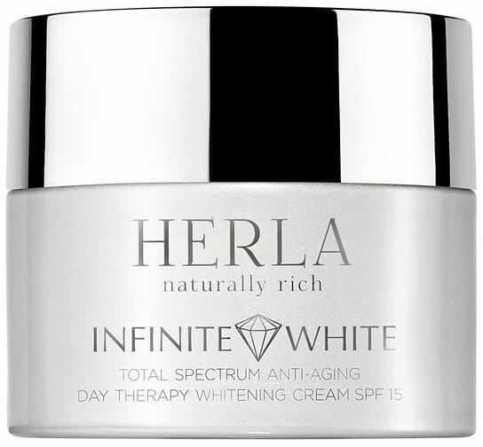 Herla Infinite White Przeciwstarzeniowy krem wybielający przebarwienia SPF15 na dzień 50 ml