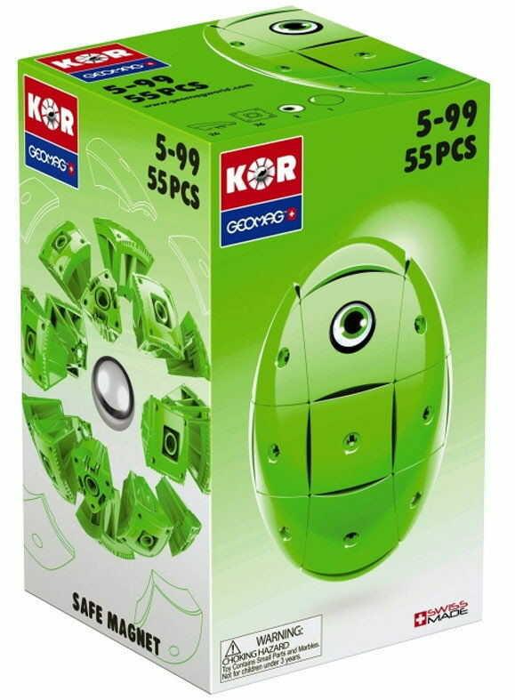 GeoMag KOR Klocki magnetyczne - Zielone jajko 55 el. 672