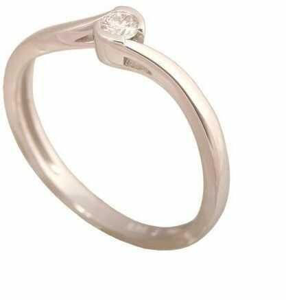 Złoty pierścionek z brylantem Dp188b