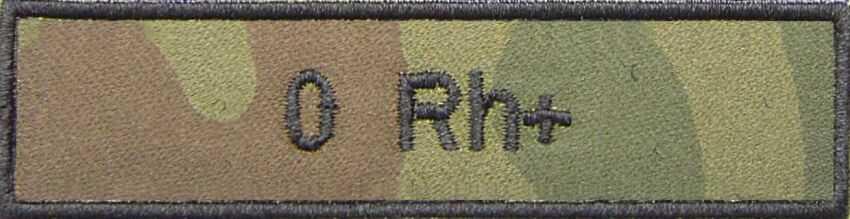 Emblemat - grupa krwi 0 Rh+