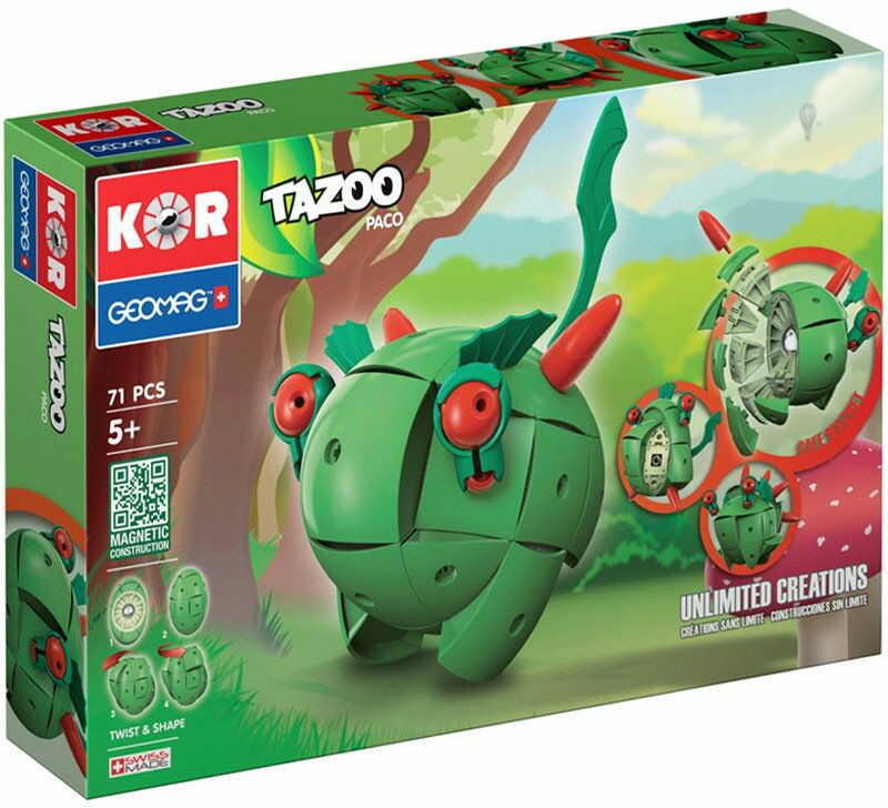 GeoMag KOR Klocki magnetyczne - Tazoo Paco 71 el. 602