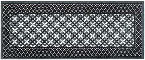 Dywan nadaje się do prania, modny, szary, antracyt, 100% poliamid, na uchwycie winylowym, 50 x 120 cm