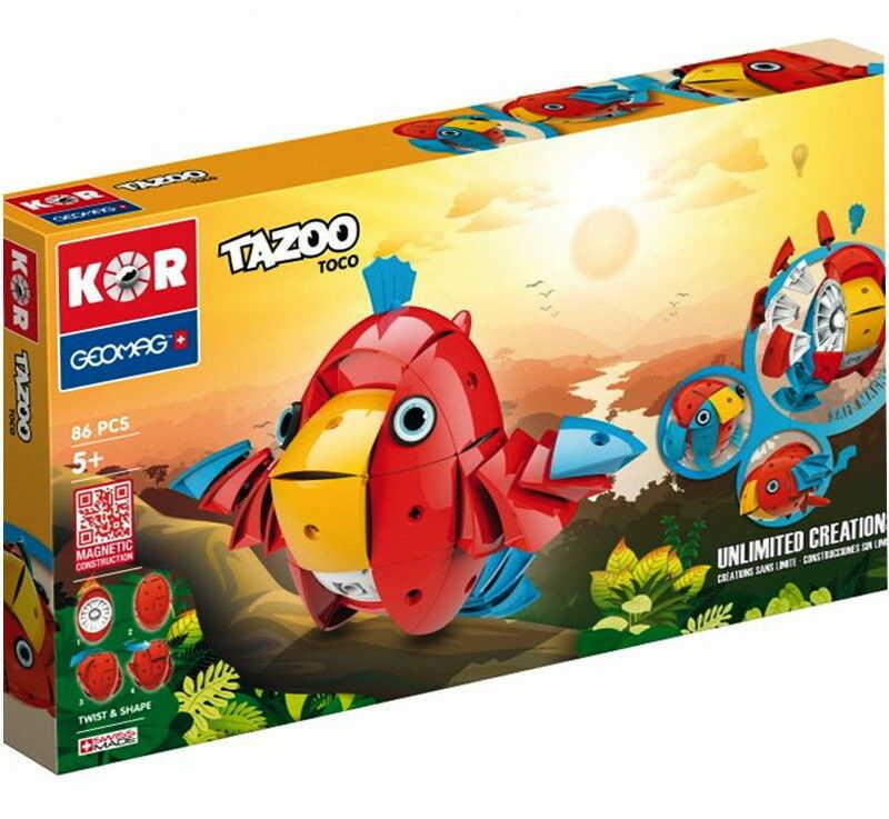 GeoMag KOR Klocki magnetyczne - Tazoo Toco 86 el. 604