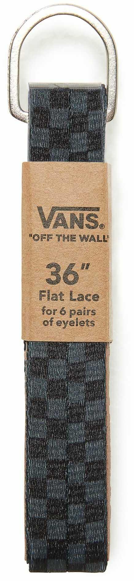 sznurowadła VANS FLAT LACES 36 Black/Charcoal