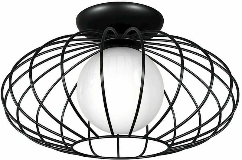 Milagro KRONOS BLACK MLP4425 plafon lampa sufitowa metal czarny koszyk 1xE14 36cm