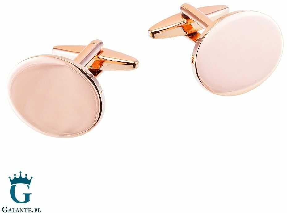Spinki do mankietów w kolorze różowego złota sd-7022