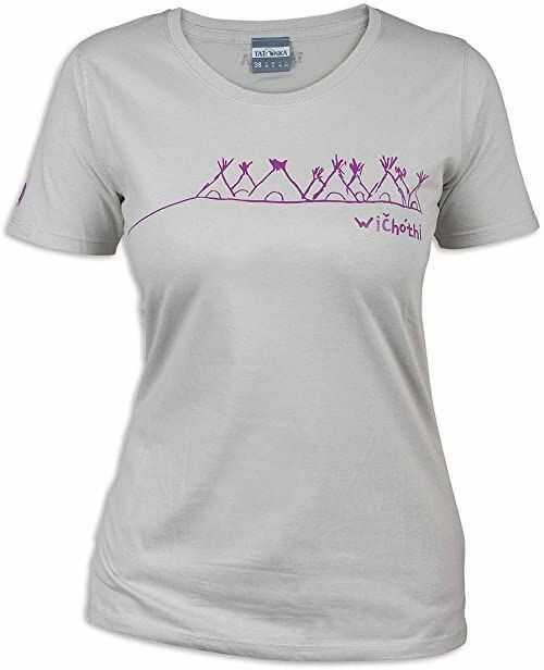 Tatonka Damski T-shirt Wichothi, silver grey, 42, C179_734