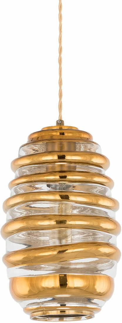 Italux Ananta AD20005-1 lampa wisząca klasyczna stal klosz szkło miedziany miodowy E27 1x40W IP20 17cm