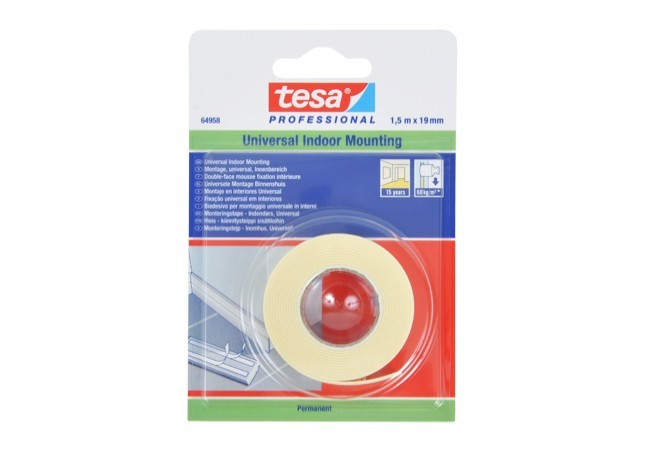 Taśma montażowa Tesa universal długość 1,5 m, szerokość 19 mm (64958-00019-05)