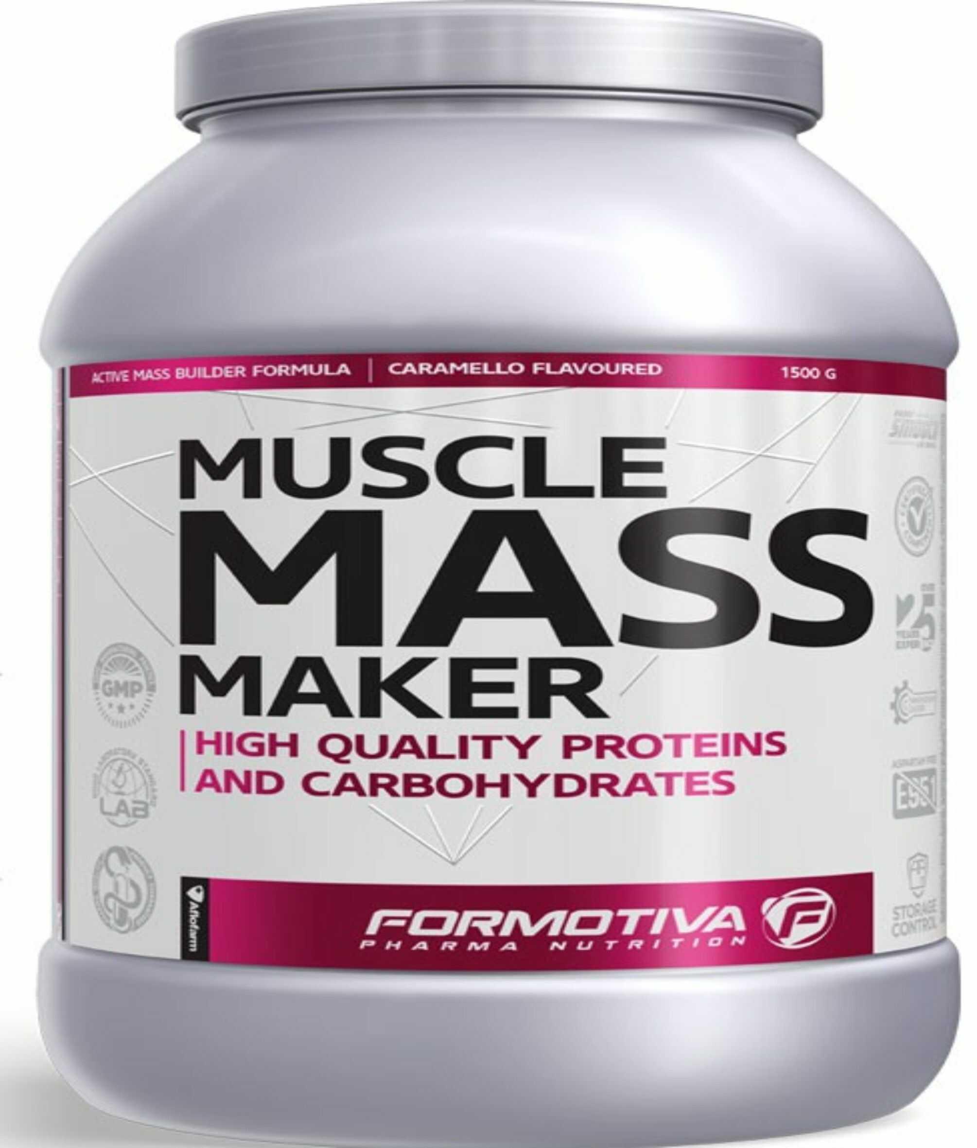 FORMOTIVA Muscle Mass Maker 1500 g karmel TANIE ODŻYWKI , NATYCHMIASTOWA WYSYŁKA !