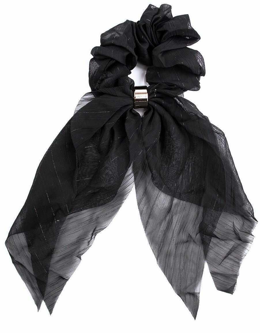 Gumka do włosów kokarda apaszka scrunchies czarna