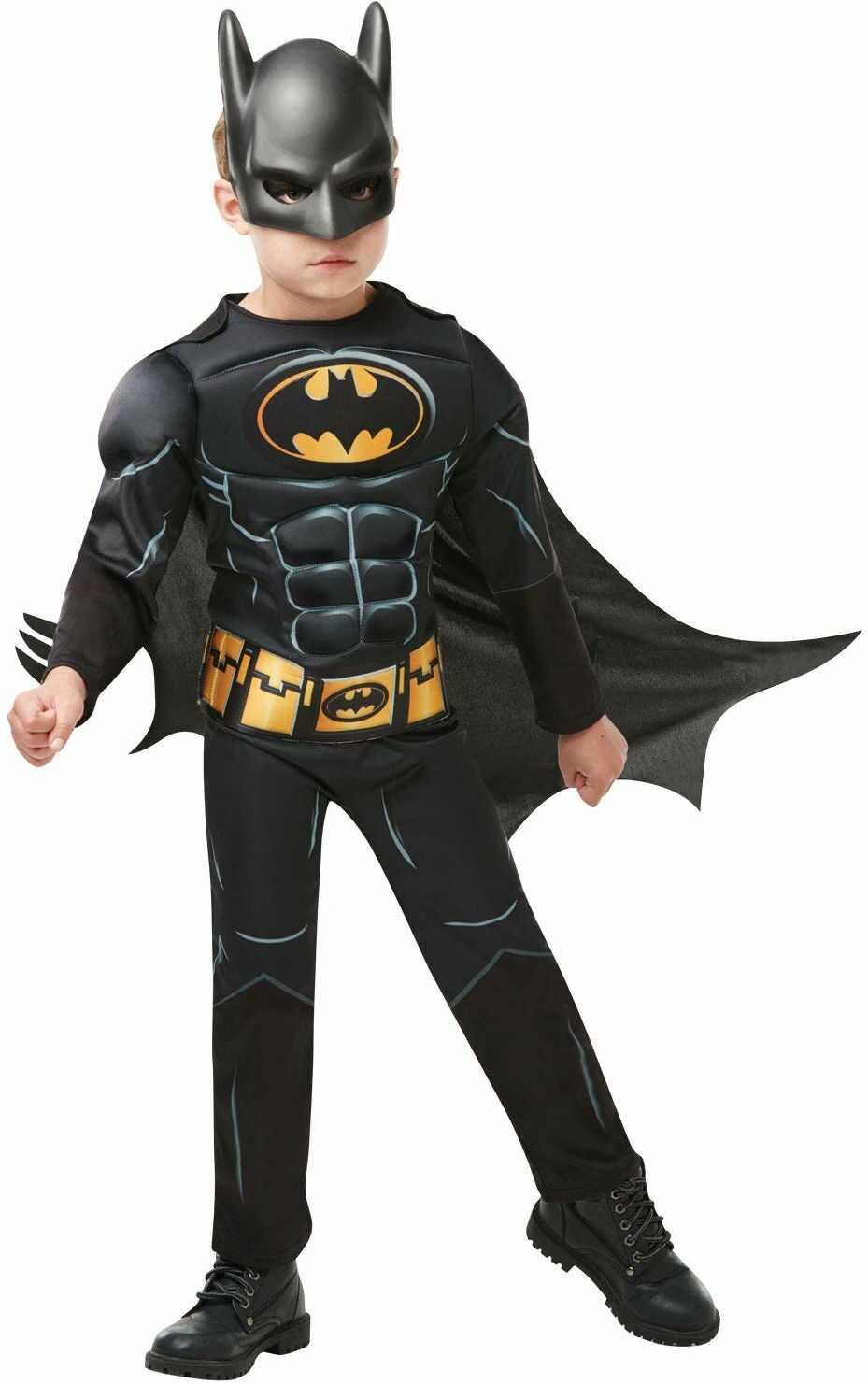 Rubie''s 3300002 Black Core Batman Deluxe  kostium Child czarny, M