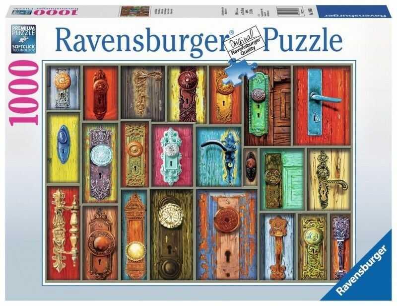 Puzzle Ravensburger 1000 - Howard Brower - Antyczne klamki, Antique door handles