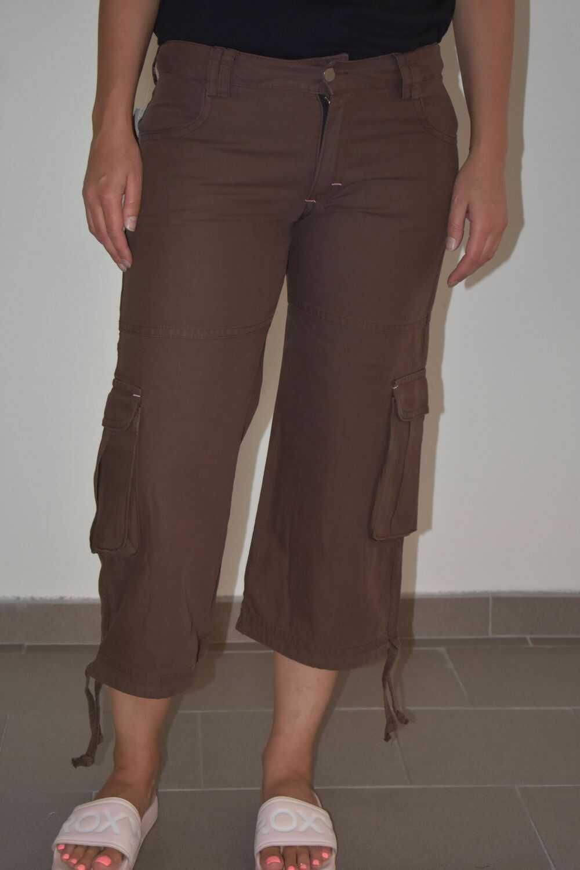 3/4 spodnie damskie BROKEN BONE BB Pants Brown