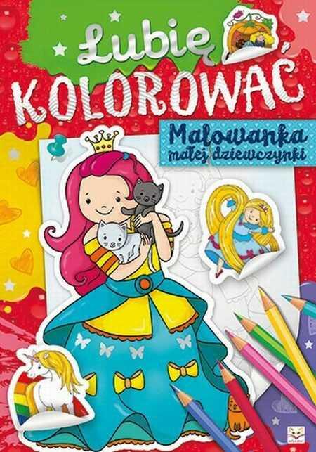 Lubię kolorować Malowanka małej dziewczynki