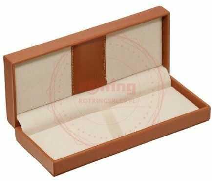Pudełko prezentowe skórzane brązowe - 163BOX