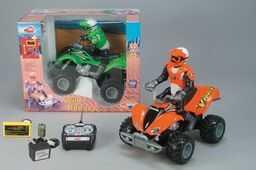 Dickie 201119970 - Wild Runner-Quad 1:15 z figurką kierowcy, akumulatorem i ładowarką