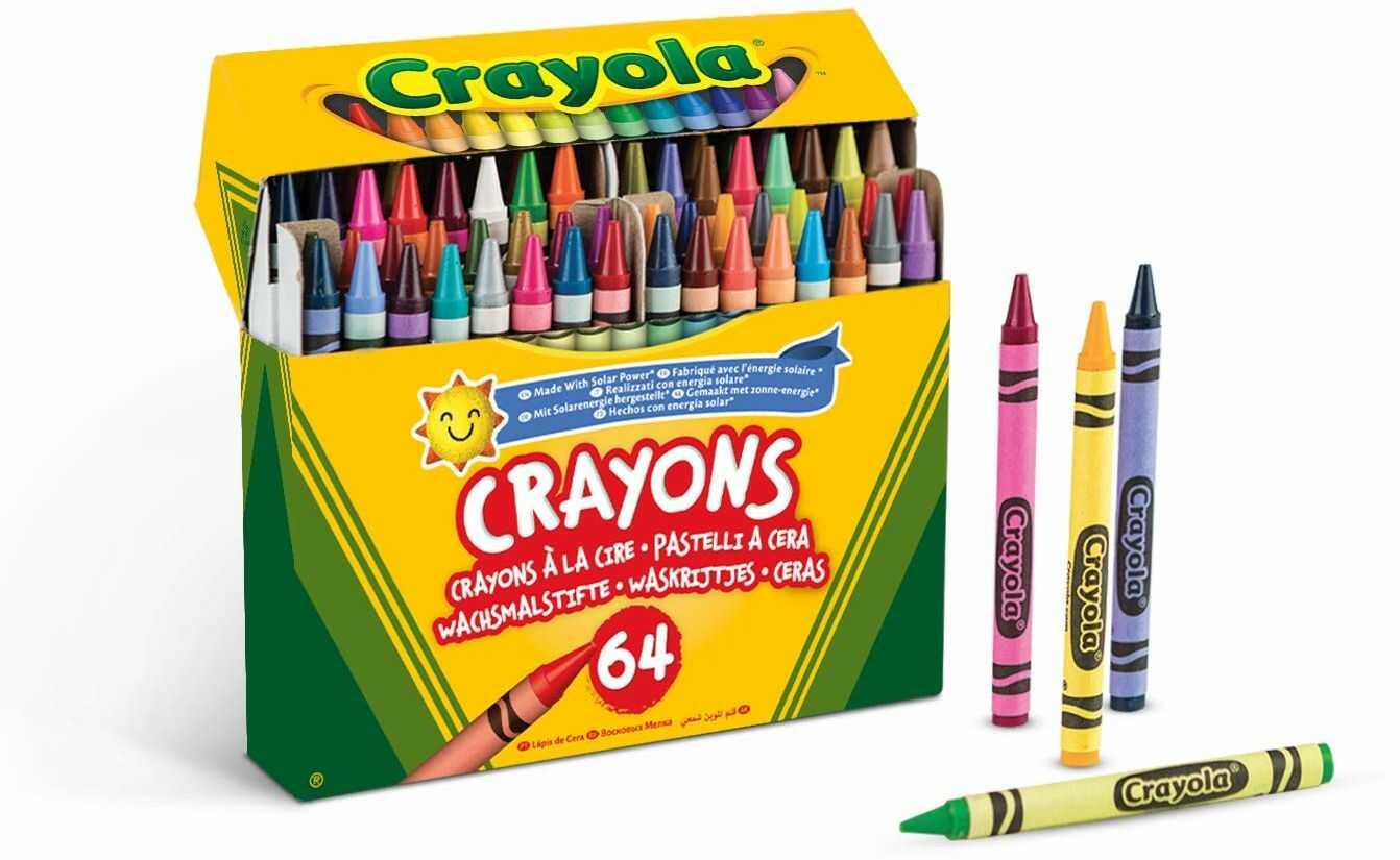 Crayola -52-6448 zestaw 64 kredek woskowych Crayola 14 x 12 cm, wielokolorowe (52-6448), różne kolory/modele