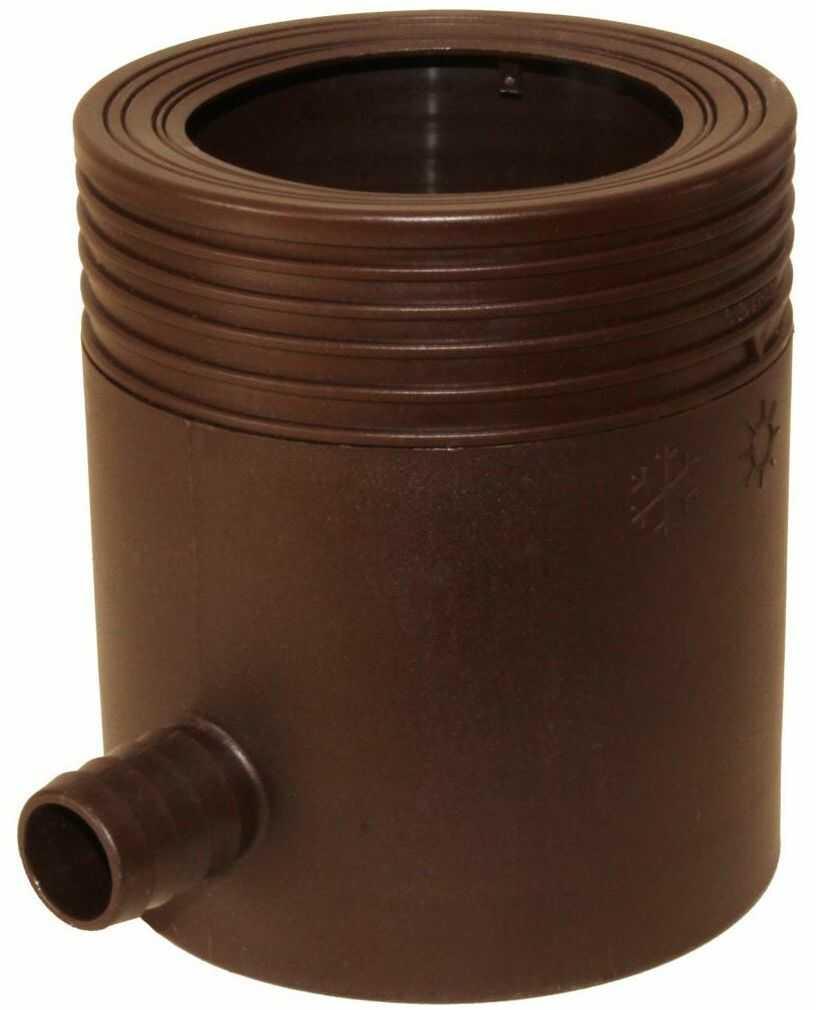 Zbieracz na wodę deszczową do rynny 80-105 mm brązowy Marley