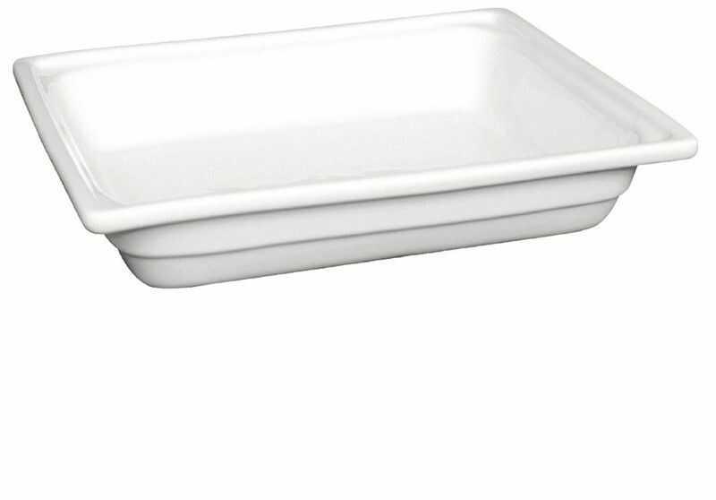 Pojemnik Gastronorm 1/2 65mm z białej porcelany marki Olympia