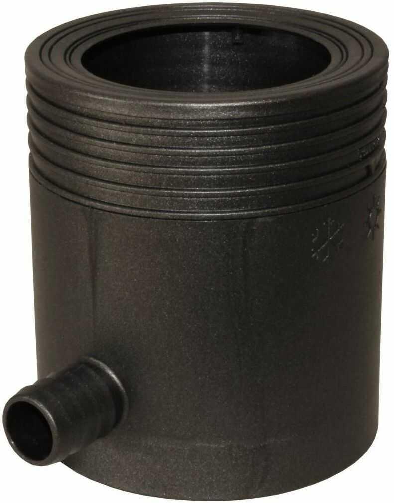 Zbieracz na wodę deszczową do rynny 80-105 mm grafit Marley
