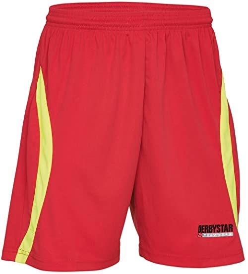 Derbystar Męskie spodnie bramkarskie Akando czerwony Czerwony/żółty neonowy S