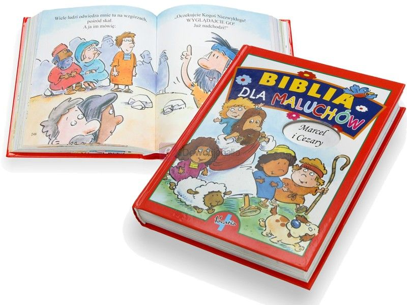 """BIBLIA """"Dla maluchów"""" z grawerowanym imieniem dziecka"""