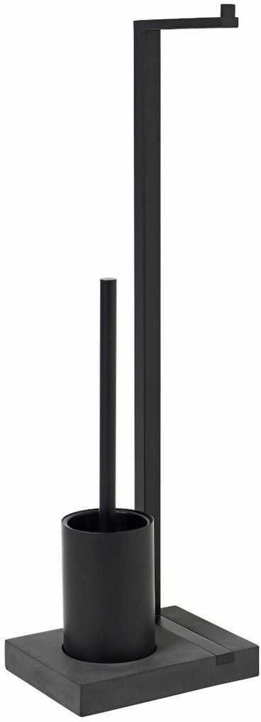 Stojak na papier toaletowy i szczotkę (czarny) Menoto Blomus