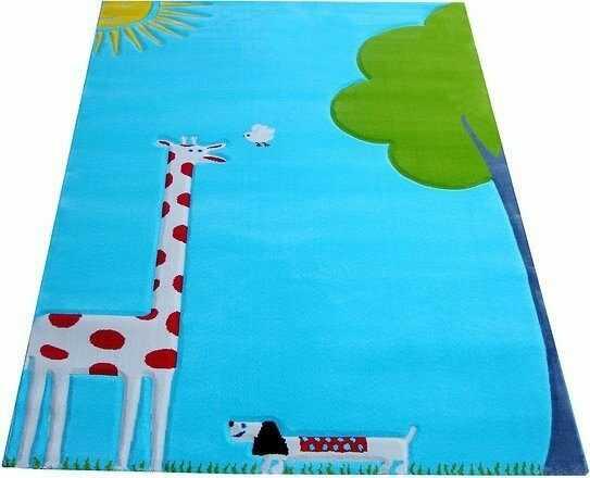 Dywan żyrafa soft play 134 x 180 cm turkusowy