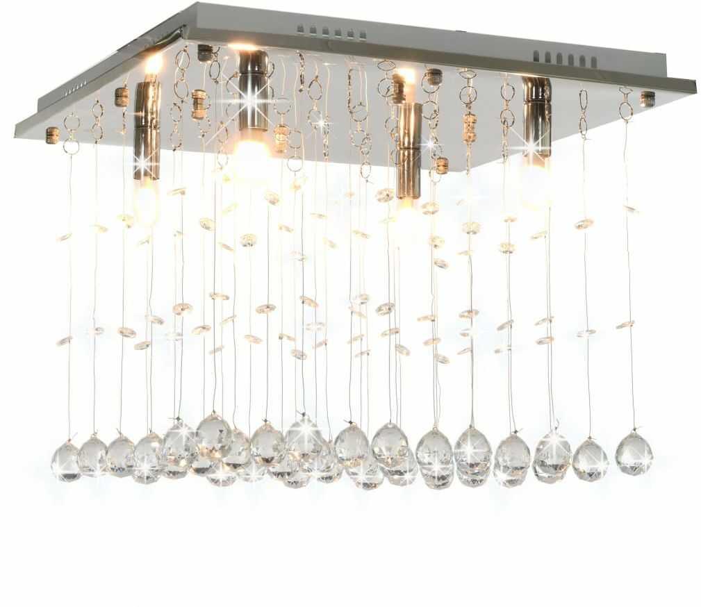 Kwadratowa lampa sufitowa w stylu glamour - EX163-Volta