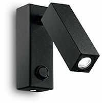 Kinkiet PAGE AP1 SQUARE NERO 142241 -Ideal Lux  Skorzystaj z kuponu -10% -KOD: OKAZJA