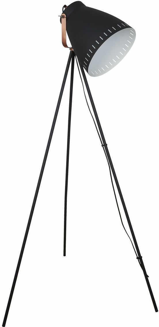 Italux lampa podłogowa Franklin ML-HN3068-B+RC czarny miedź